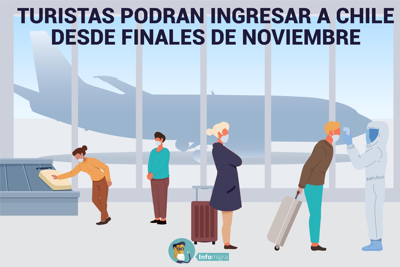 TURISTAS PODRÁN INGRESAR A CHILE DESDE FINALES DE NOVIEMBRE