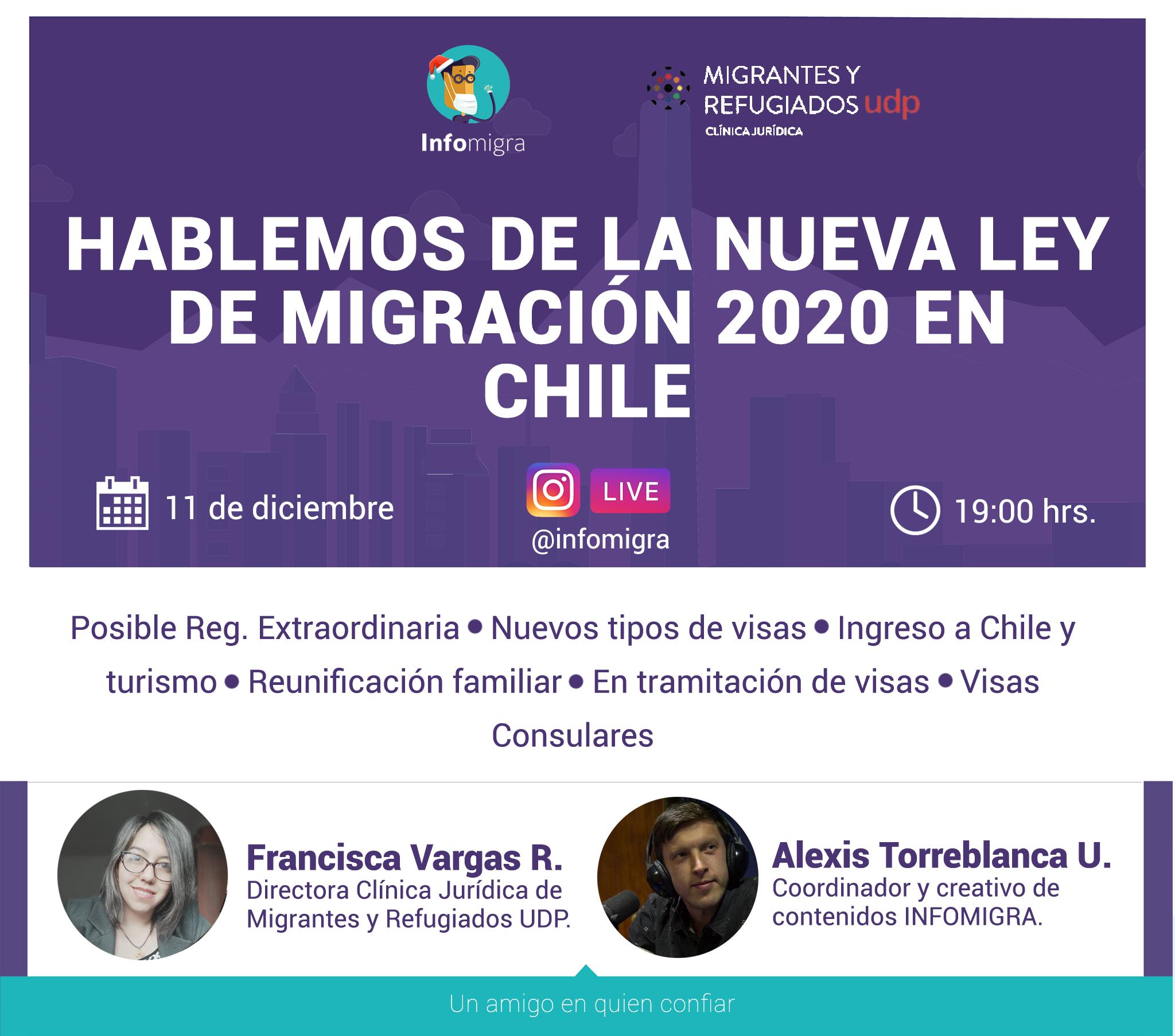 Conversatorio «Hablemos de la nueva ley de migración 2020 en Chile»
