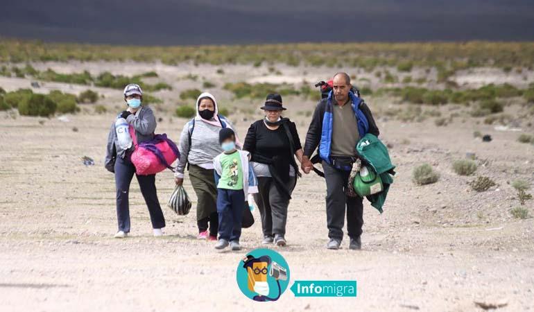 EFECTO PANDEMIA: MIGRACIÓN EN CHILE CAE DURANTE 2020, PERO SE DUPLICAN LOS INGRESOS POR PASOS NO HABILITADOS.